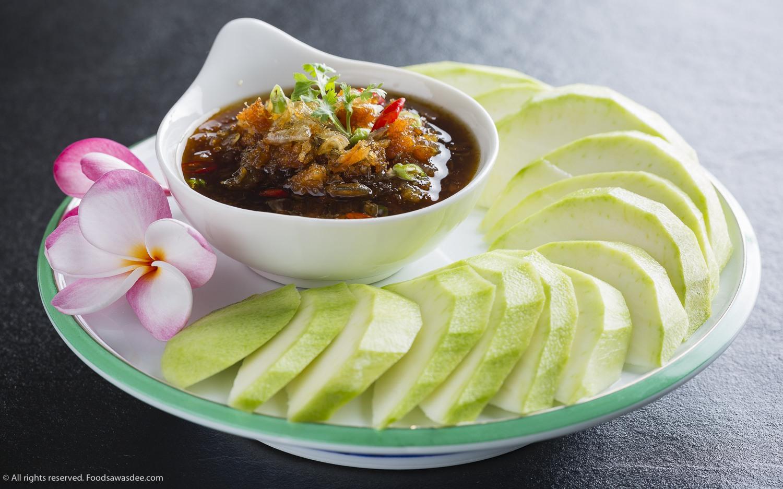 Mango, sweet sauce